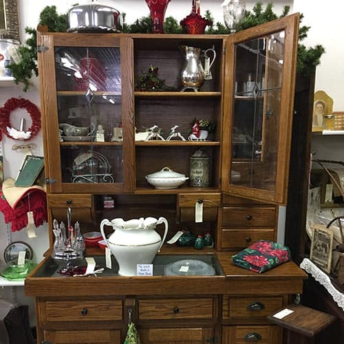 Antique hutch display set
